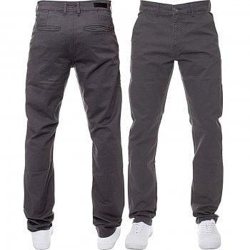 Enzo-Jeans Enzo New Mens EZ348 Slim Fit Stretch Designer Grey Jeans Chinos