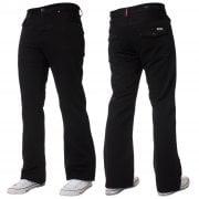 Mens New Enzo A42 Designer Bootcut Flared Denim Black Jeans Prime