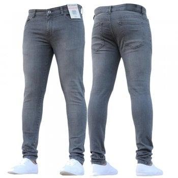 Enzo-Jeans New Boys Kind Enzo Designer Stretch Skinny Slim Fit Grey Denim Jeans