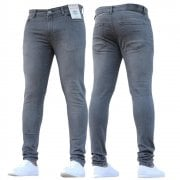 New Boys Kind Enzo Designer Stretch Skinny Slim Fit Grey Denim Jeans