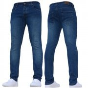 New Boys Kind Enzo Designer Stretch Skinny Slim Fit Mid Stonewash Denim Jeans
