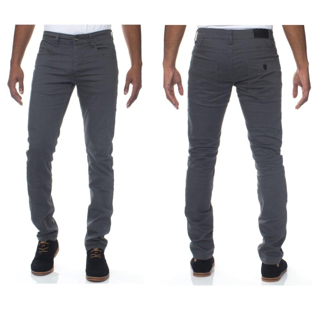 01ee8603ff80e3 Enzo New Mens Skinny Slim Fit Stetch Designer Grey Jeans Chinos