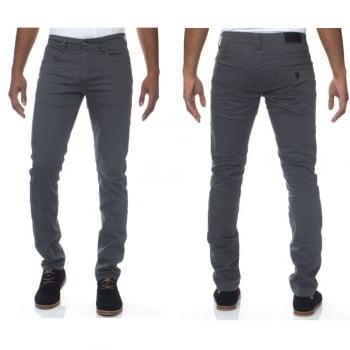 Enzo New Mens Skinny Slim Fit Stetch Designer Grey Jeans Chinos