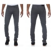 Enzo New Mens Skinny Slim Fit Stetch Designer Grey Jeans Chinos