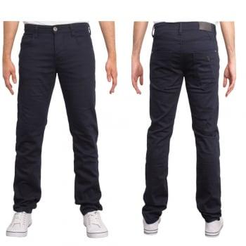 Enzo-Jeans Enzo New Mens Skinny Slim Fit Stetch Designer Navy Jeans Chinos
