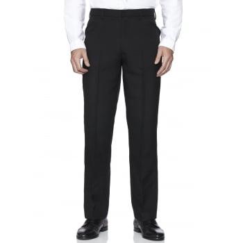 Farah Classic Hopsack Frogmouth Pocket Straight Leg Trouser Black