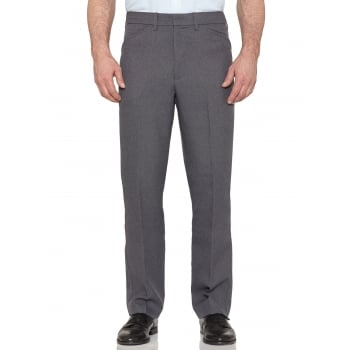 Farah Classic Hopsack Frogmouth Pocket Straight Leg Trouser Grey