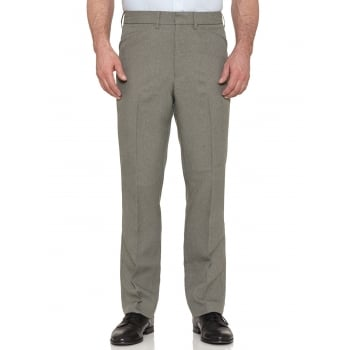 Farah Classic Hopsack Frogmouth Pocket Straight Leg Trouser Olive