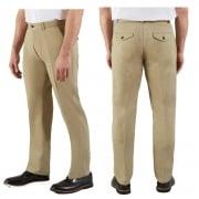 Farah Classic Mens Crane Chino Vintage Straight Leg Trouser Khaki