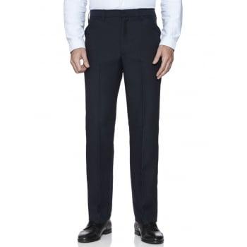 Farah Classic Mens Hopsack Frogmouth Pocket Straight Leg Trouser Navy