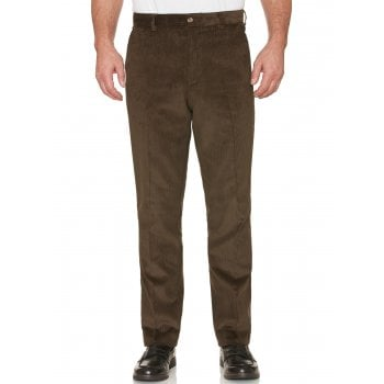 Farah Classic Mens Howden Wale Cords Straight Leg Trouser Dark Olive