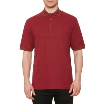 Farah Mens Casual Cove Polo Shirts Cabernet