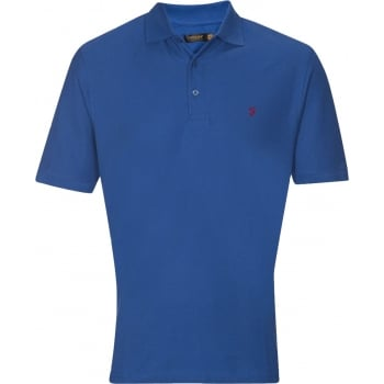 Farah Mens Casual Cove Polo Shirts Royal Blue