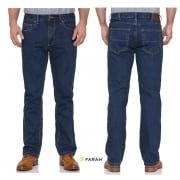Farah Mens Darwin Rigid Straight Leg Denim Jeans Indigo