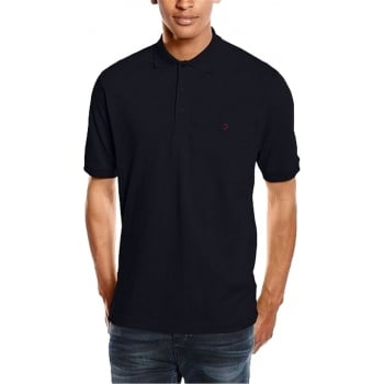 Farah Mens Designer Casual Cove Polo Shirts Black
