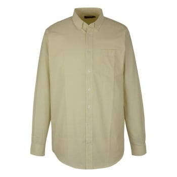 Farah Mens Long Sleeve Regular Fit Oxford Shirt 'The Drayton' Buttercup