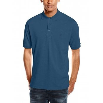 Farah Mens New Casual Cove Polo Shirts Night Sky