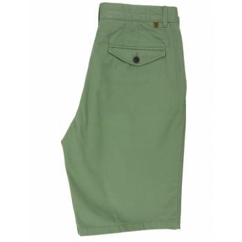 Farah Mens New Crane Soft Twill Chino Shorts Sage