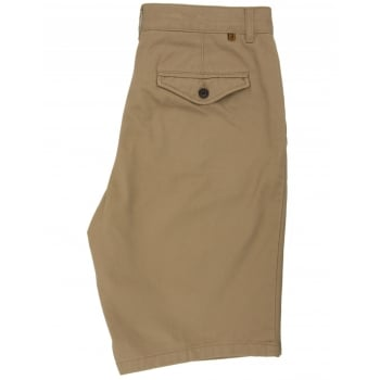 Farah Mens New Crane Soft Twill Chino Summer Shorts Classic Khaki