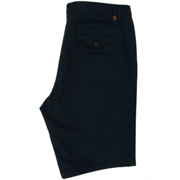Farah Mens New Crane Soft Twill Summer Chino Shorts Navy