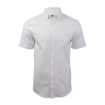 Farah Mens Short Sleeve Regular Fit Thompson Oxford Shirt Bluewater