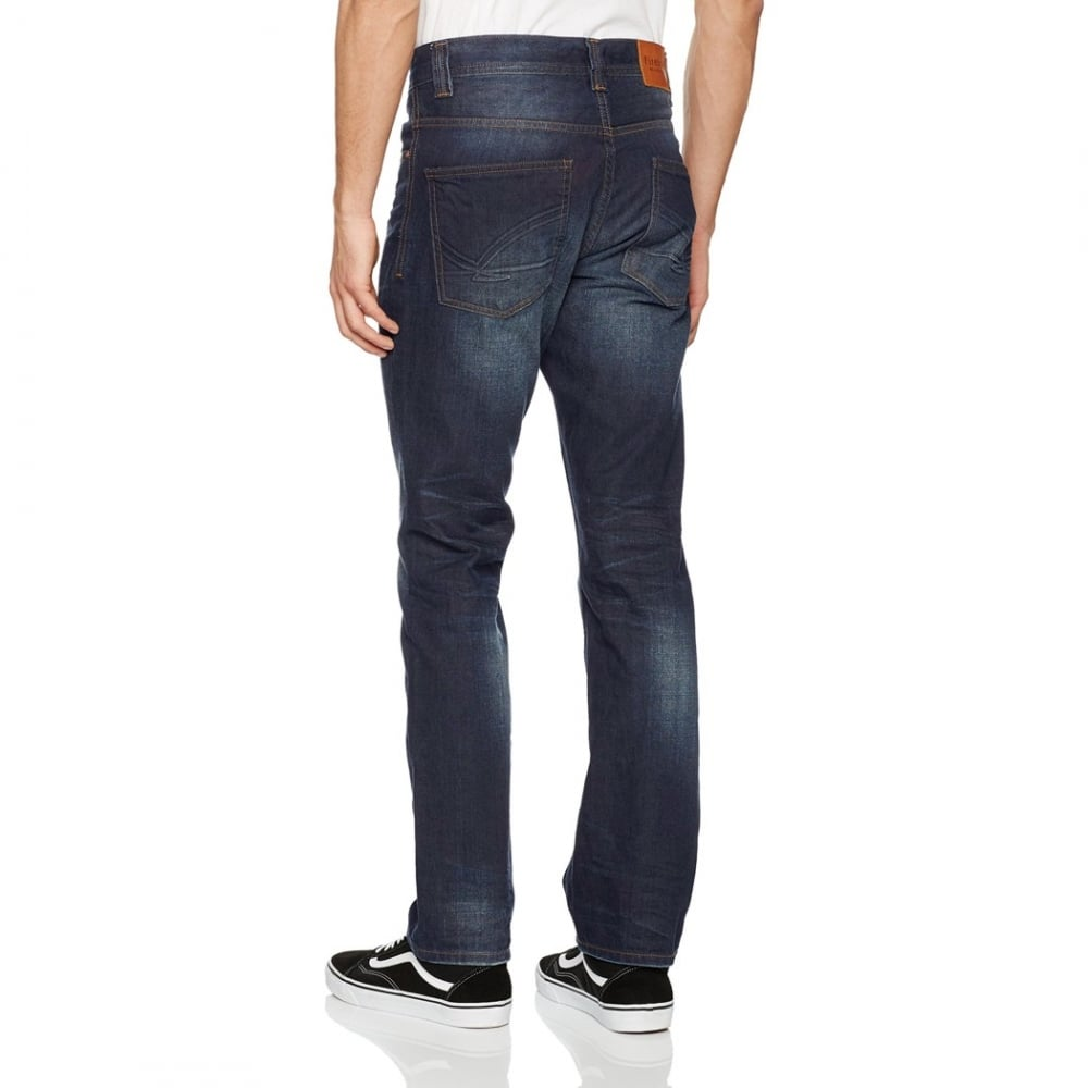 firetrap men new deadley original straight leg jeans dark. Black Bedroom Furniture Sets. Home Design Ideas