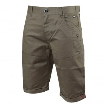 Firetrap Mens Eastley Designer Cargo Chino Shorts Taupe