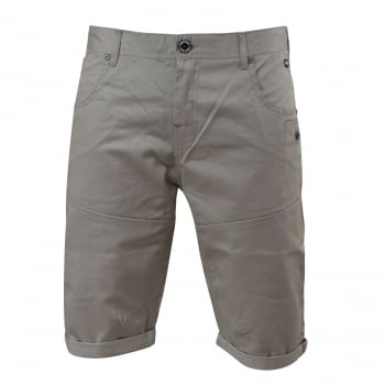 Firetrap Mens Eastley Designer Cargo Chino Shorts Wild Dove