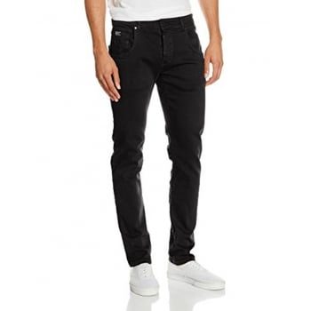 Firetrap Mens Parlin Designer Slim Fit Tapered Summer Chinos Pants Black