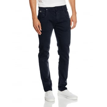 Firetrap Mens Parlin Designer Slim Fit Tapered Summer Chinos Pants Navy