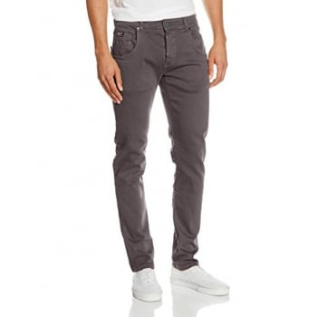 Firetrap Mens Parlin Designer Slim Fit Tapered Summer Chinos Pants Pewter