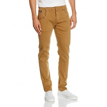 Firetrap Mens Parlin Designer Slim Fit Tapered Summer Chinos Pants Tobacco