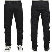 "Jack & Jones 36"" Leg Designer Isac Colins Twisted Chino's Black"