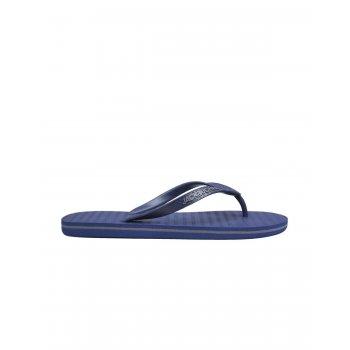 Jack & Jones Branded Rubber Flip Flops Sandals Dark Blue