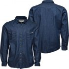 Casual Button Up Denim Shirt Dark Stonewash
