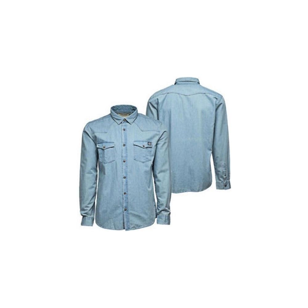 Jack And Jones Casual Button Up Denim Shirt Light Wash