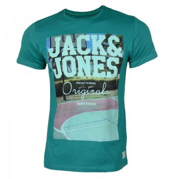 Jack & Jones Casual Designer Crew Neck Floor T-Shirt Bayou