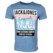 Casual Designer Crew Neck Floor T-Shirt Coronet Blue