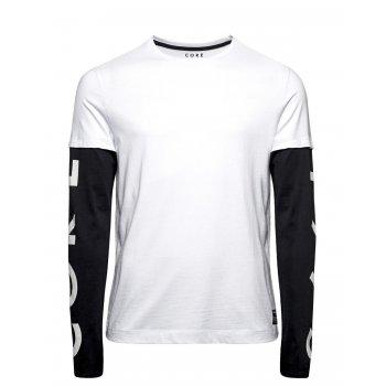 Jack & Jones Casual Designer Long Sleeve T-Shirt White