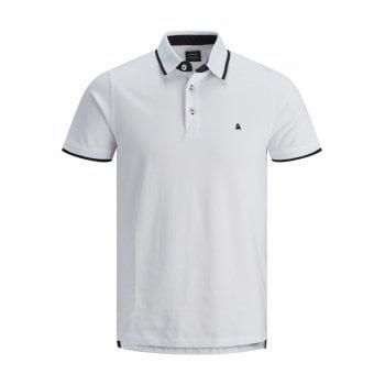 Jack & Jones Casual Paulos Regular Fit Polo Shirts White