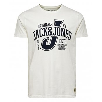 Jack & Jones Casual Raffa Crew Neck T-Shirt Cream