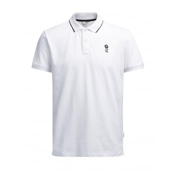 Jack & Jones Casual Stone Regular Fit Polo Shirts White