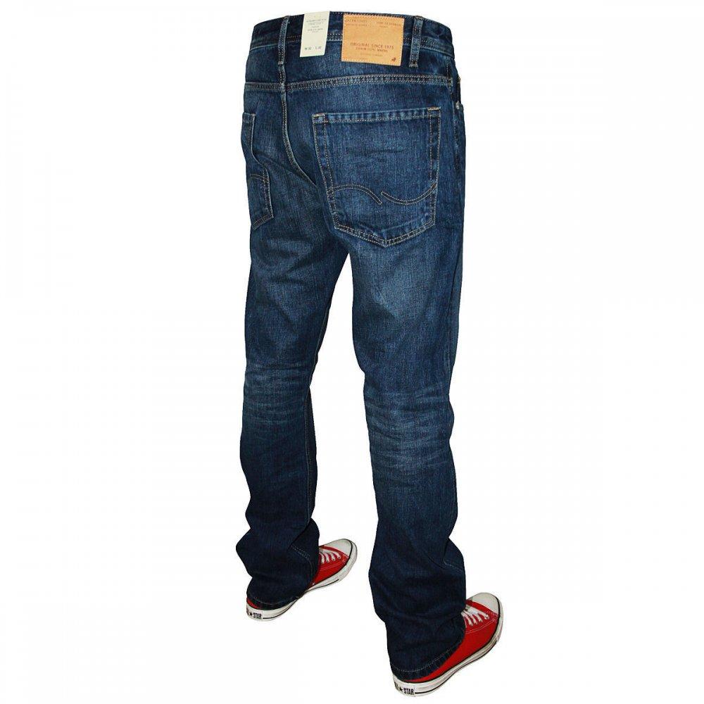 22f05789 ... Jack & Jones Clark Comfort Fit Straight Leg Jeans Dark Used Look ...