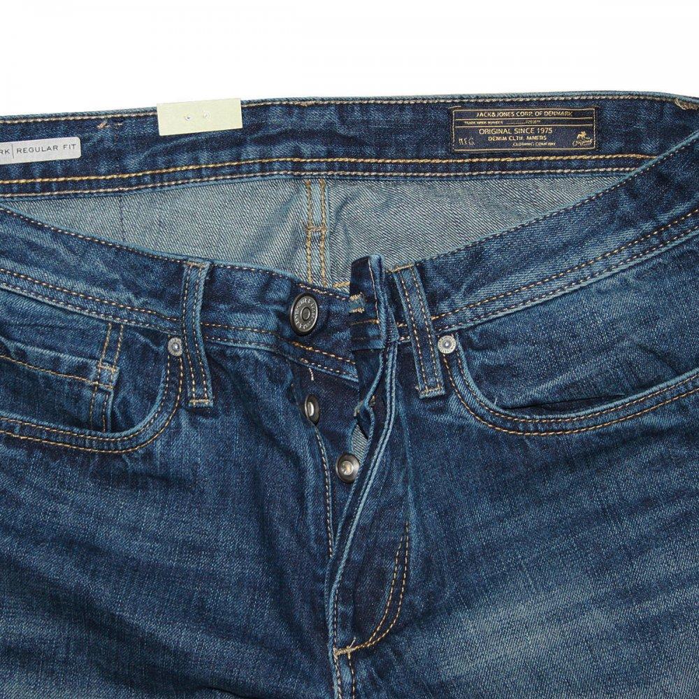 hohe Qualität offizieller Shop gute Textur Jack & Jones Clark Comfort Fit Straight Leg Jeans Dark Used Look