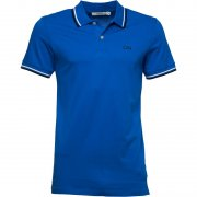 Jack & Jones Contrast Slim Fit Jersey Polo Shirt Directoire Blue