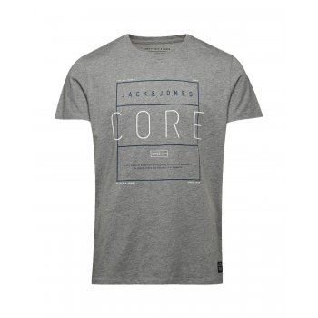 Jack & Jones Designer Crew Neck Fame T-Shirt Grey