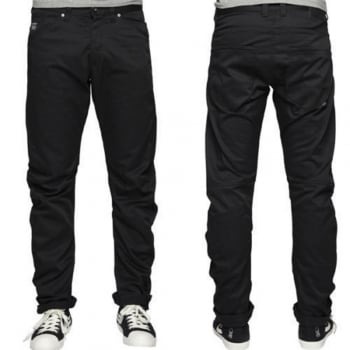 Jack & Jones Designer Dale Colins Twisted Chino's Black