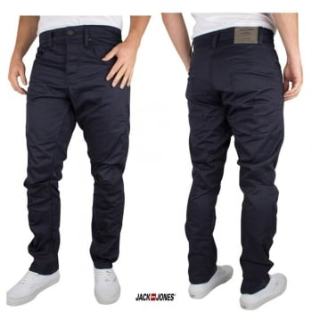 Jack & Jones Designer Dale Colins Twisted Chinos Navy
