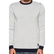 Jack & Jones Glen Knitted Crew Neck Jumper Lilly White