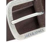 Jack & Jones JACHarry Buckle Casual Faux Leather Trousers Jean Belt Black Coffee